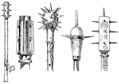 Assortment of maces used during the apocalypse