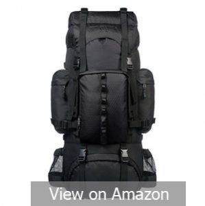 AmazonBasics Internal Frame Hiking Backpack with Rainfly