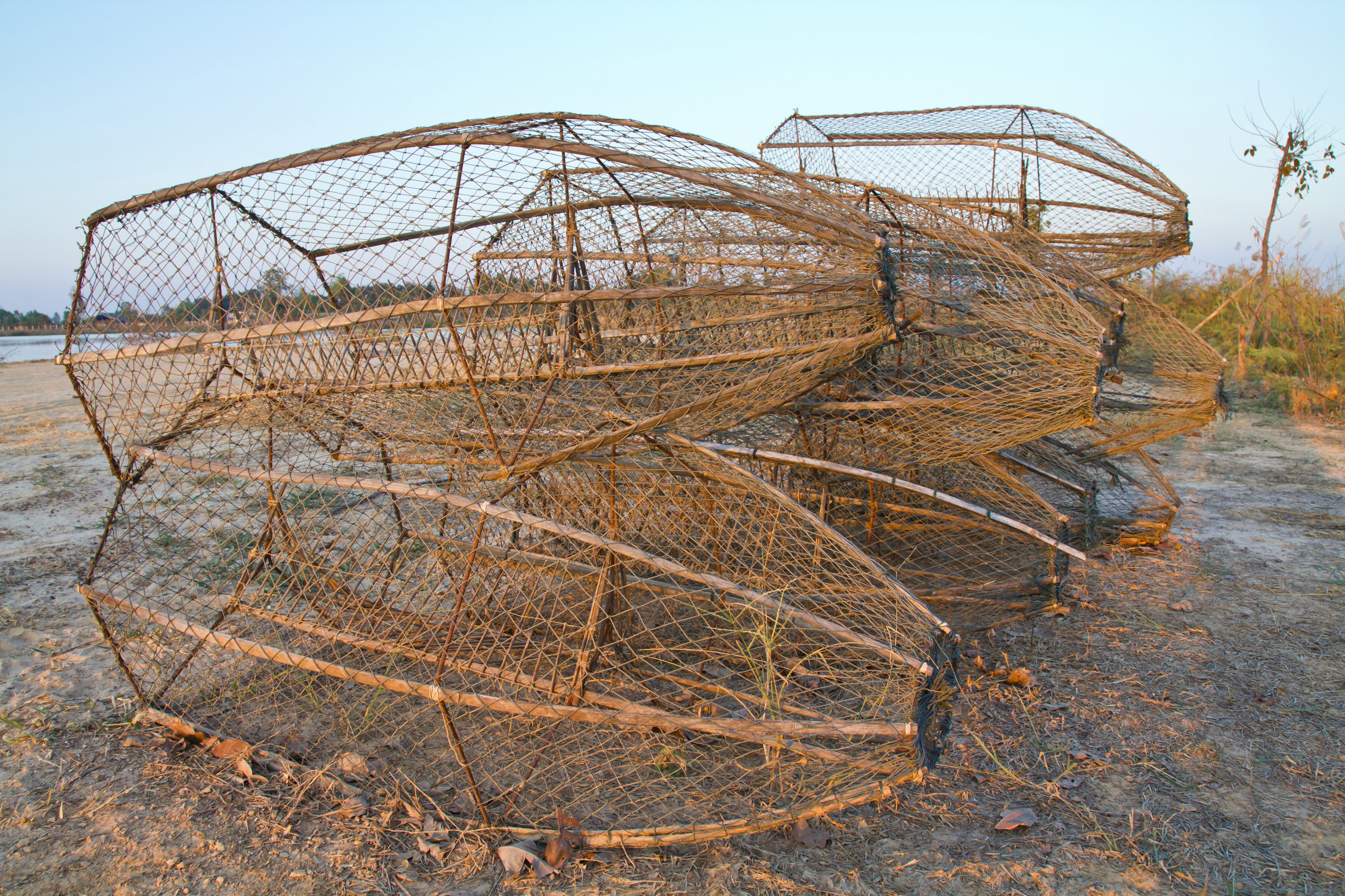 Primitive fishing will give you a sustainable food source for Fishing pole crab trap