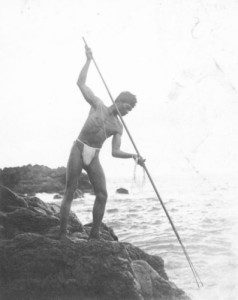Using a spear to catch fish