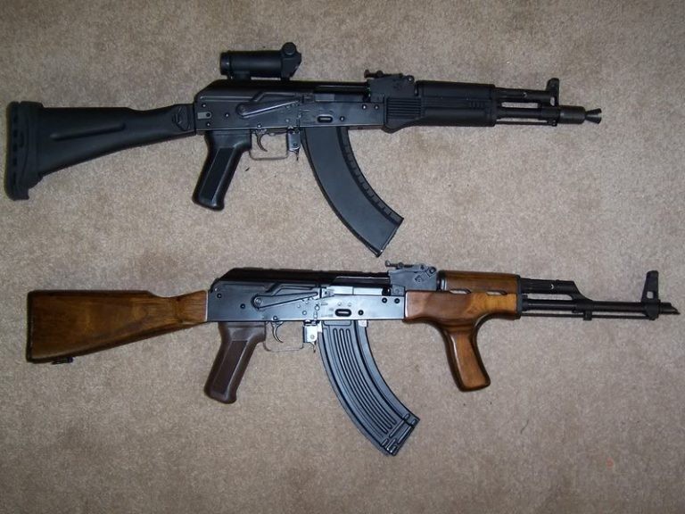 AK-104 Assault Rife With Compare AK-47 Assault Rifle