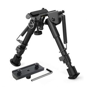 XAegis 2 in 1 Bipod 6 Inch to 9 Inch Adjustable Rifle Bipod